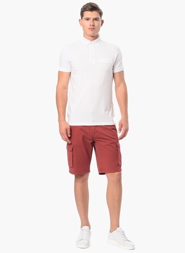 George Hogg Slim Fit Polo Yaka Tişört Beyaz